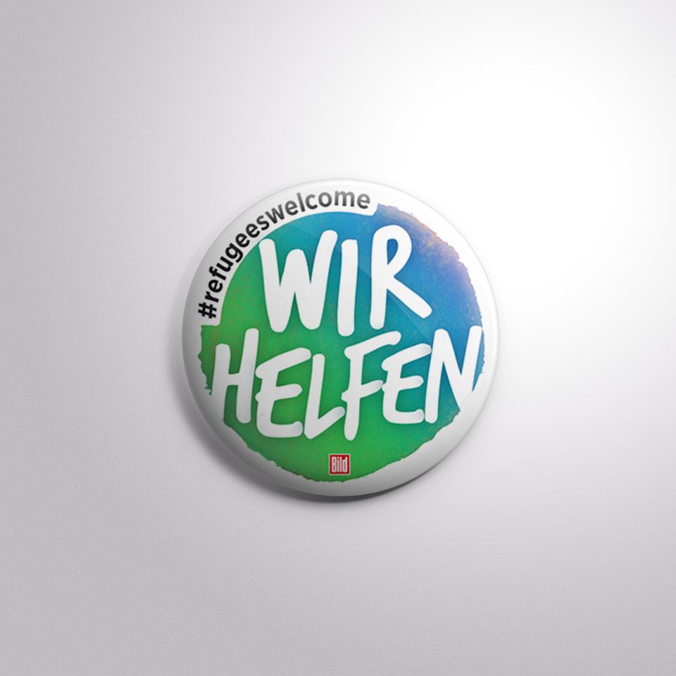 """Logo """"Wir helfen""""-Aktion von BILD"""
